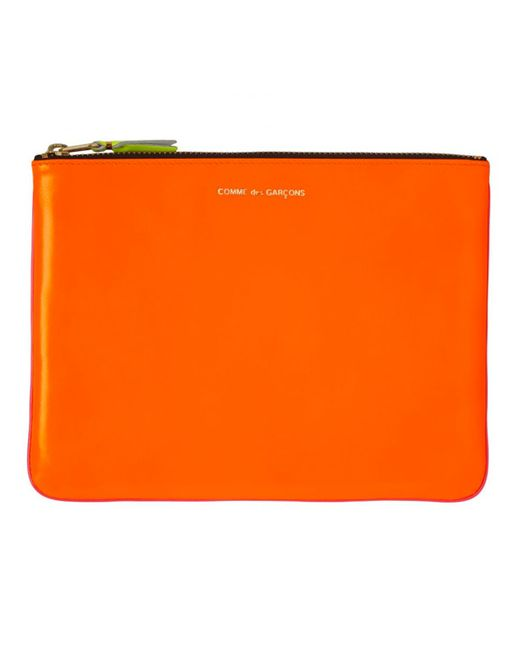 Comme des Garçons - Wallet Sa5100sf Super Fluo Zipped Pouch Light Orange/pink - Lyst