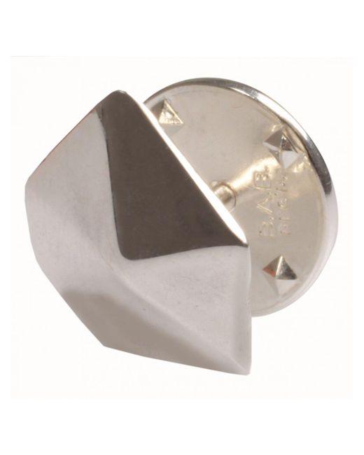Hannah Martin | Metallic Jewellery Facet Stud Earring Silver for Men | Lyst