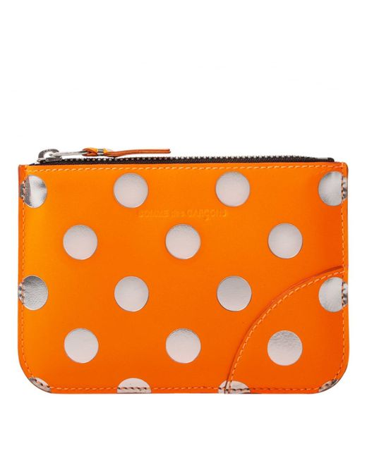 Comme des Garçons - Sa8100gb Optical Group Dot Wallet Orange - Lyst