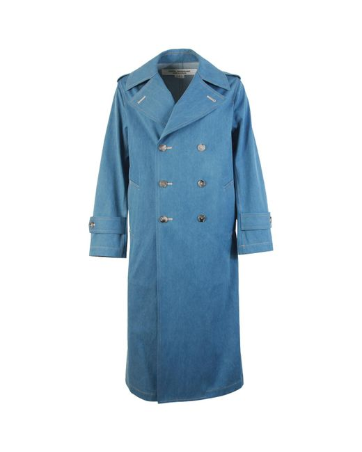 Junya Watanabe Blue Double Breasted Coat