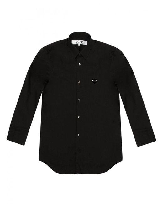 Comme des Garçons | Play Mens Black Heart Classic Shirt Black for Men | Lyst