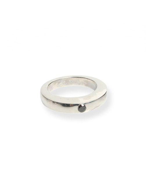 Rosa Maria | Laetitia Black Diamond Ring Silver | Lyst