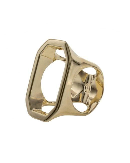 Maison Margiela - Metallic Cut-out Golden Brass Ring - Lyst