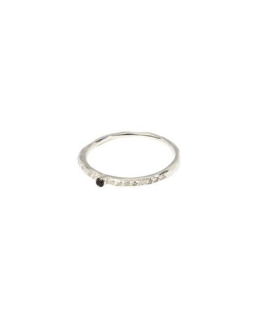 Rosa Maria - Black Diamond Set Ring Silver - Lyst