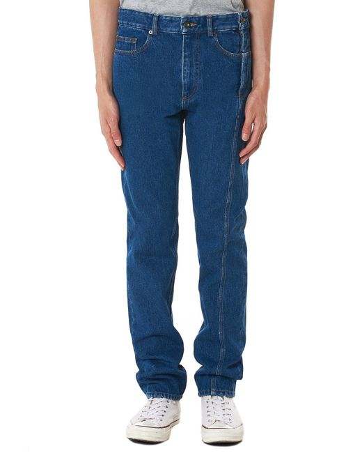 Y. Project - Blue Reconstructed Denim Pant for Men - Lyst