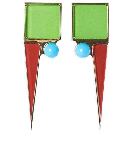 Sylvio Giardina - Blue Structured Earrings - Lyst