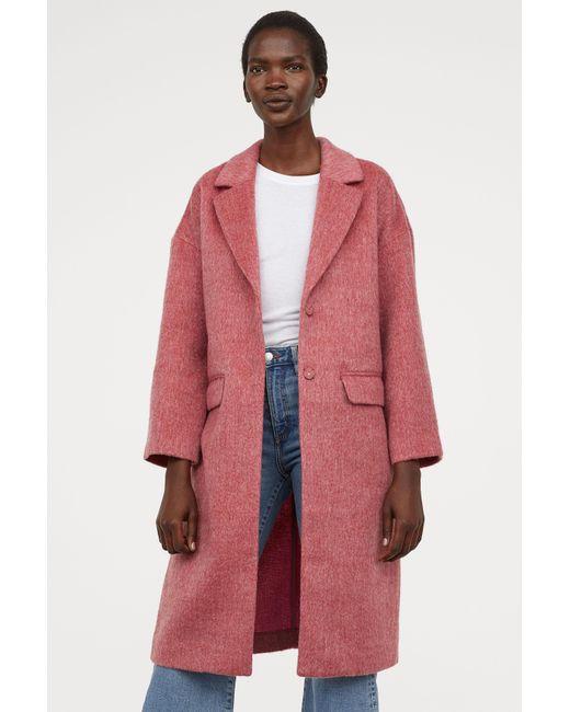 H&M - Red Knee-length Coat - Lyst
