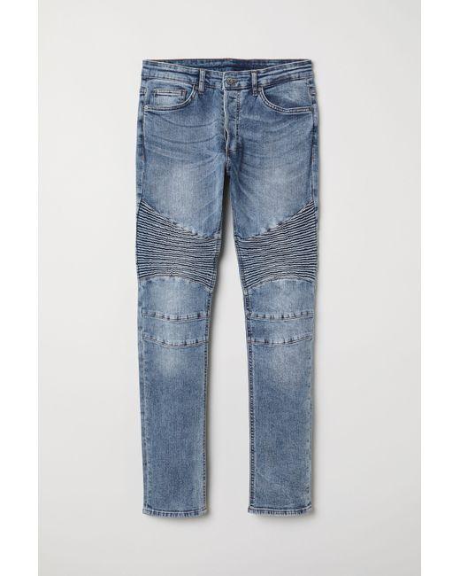 Lyst H M Biker Jeans In Blue For Men