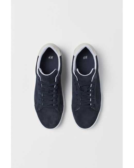 7e165d0779 ... Lyst H M - Blue Suede Sneakers for Men ...