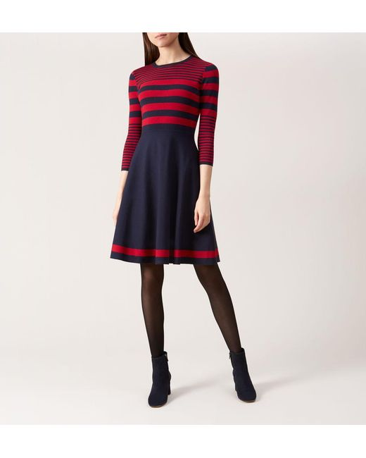 b4ab399a70cc3c Hobbs Nelly Knitted Dress in Blue - Save 14% - Lyst