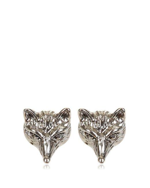 Hobbs - Metallic Fox Earrings - Lyst