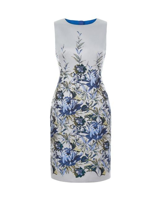 Hobbs - Blue Royal Chrysanthemum Shift - Lyst