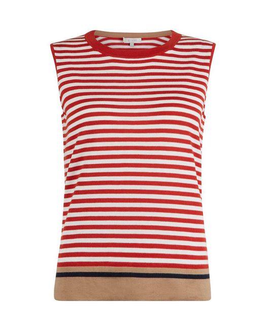 Hobbs | Red Jane Sleeveless Knit | Lyst