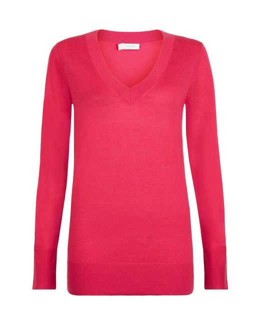 Hobbs | Pink Cherry Sweater | Lyst