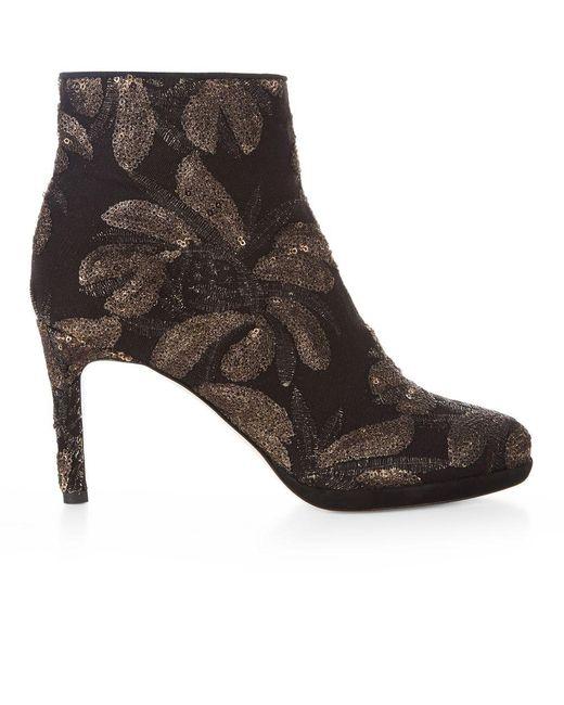 Hobbs - Black Julietta Embroidered Boot - Lyst