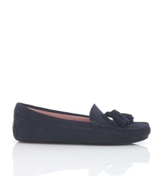 Pretty Loafers | Blue Josephine Tasseled Driving Shoe | Lyst