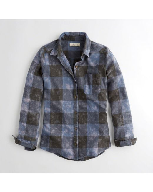 e0f12bca5 Lyst - Hollister Girls Oversized Flannel Shirt From Hollister in ...