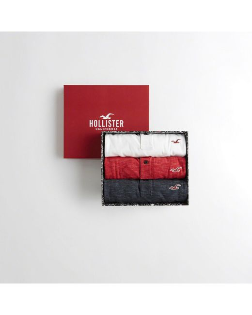 Hollister - Red Guys Stretch Slim Fit Polo Gift Set From Hollister for Men - Lyst