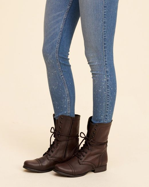 Hollister Steve Madden Troopa Combat Boot in Brown | Lyst