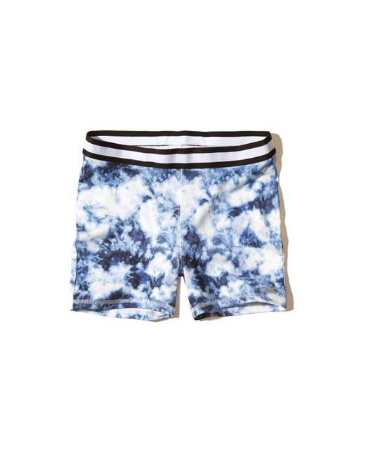Hollister Stripe Elastic Yoga Shorts in Blue | Lyst