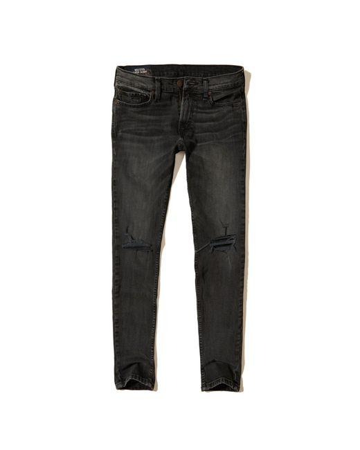Hollister   Black Super Skinny Jeans for Men   Lyst