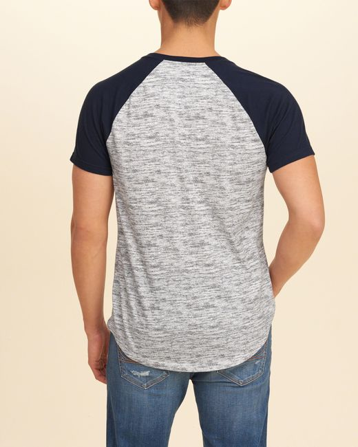 Hollister must have colorblock raglan t shirt in gray for for Must have dress shirts