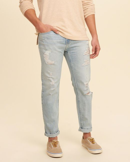 Hollister Skinny Ankle Jeans in Blue for Men | Lyst