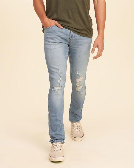 Hollister Super Skinny Jeans in Blue for Men | Lyst