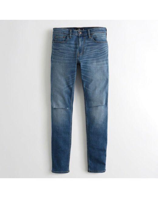 Hollister - Blue Super Skinny Jeans for Men - Lyst