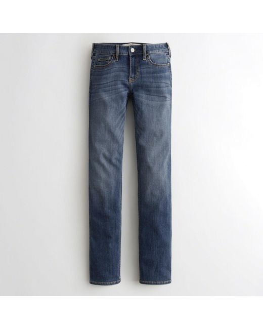 Hollister - Blue Girls Classic Stretch Low-rise Skinny Jeans From Hollister for Men - Lyst