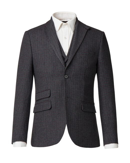 Racing Green | Gray Men's Lupin Grey Puppytooth Jacket for Men | Lyst