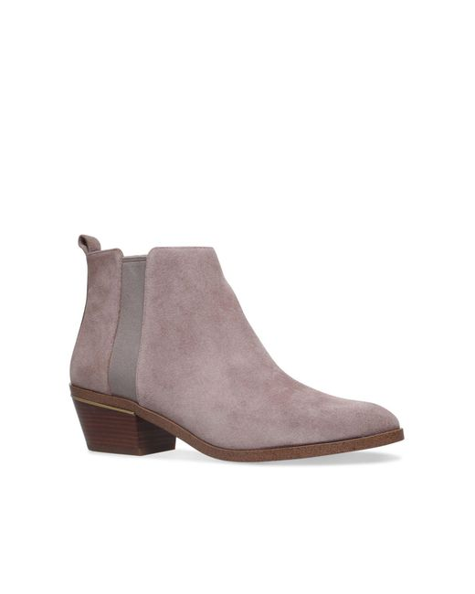 Michael Kors | Gray Crosby Bootie Flat Ankle Boots | Lyst