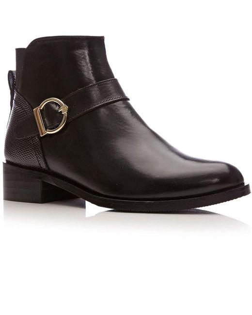 Moda In Pelle Black Keera Medium Smart Short Boots