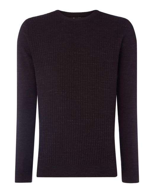 Label Lab - Black Men's Jackson Ribbed Crew Neck Knit for Men - Lyst