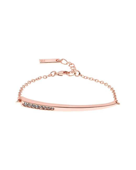 Karen Millen | Metallic Crystal Shard Bracelet | Lyst