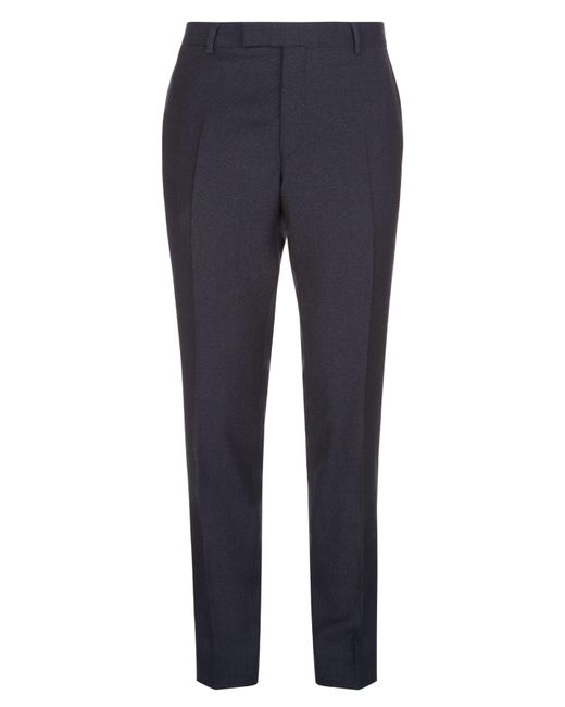 Jaeger | Blue Men's Wool Slim Mouline Super 100s Trousers for Men | Lyst