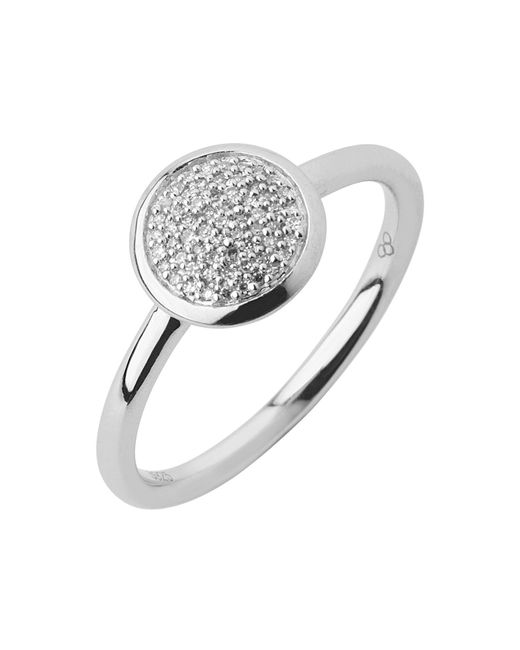Links of London - Metallic Diamond Essentials Pave Ring - Ring Size L - Lyst