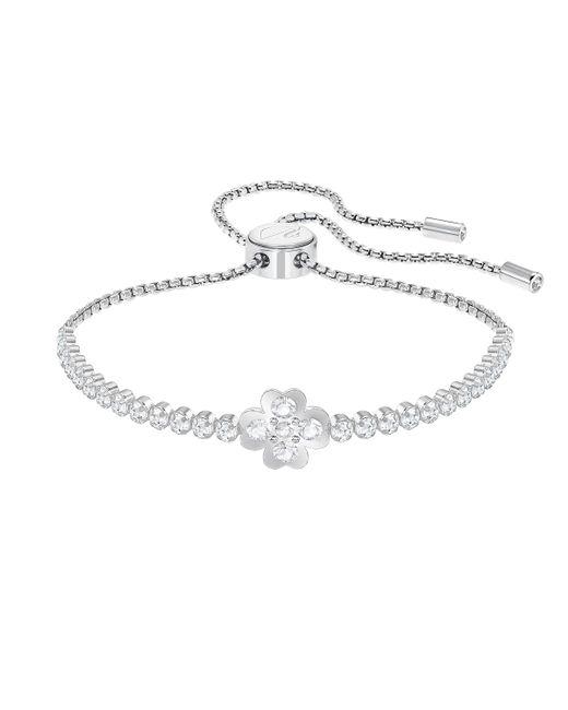 Swarovski | White Subtle Bracelet Clover | Lyst