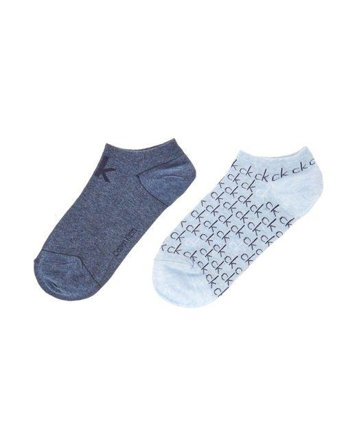 Calvin Klein | Blue Repeat Logo 2 Pair Pack Trainer Socks | Lyst