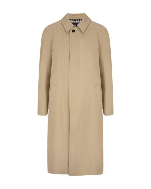 Aquascutum   Natural Filey Single Breasted Raincoat for Men   Lyst