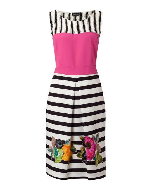 James Lakeland | White Stripe Floral Dress | Lyst