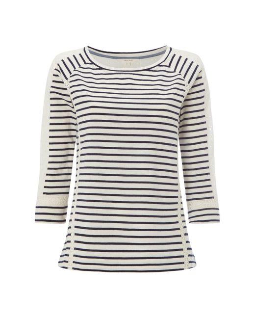 White Stuff | Blue Lace Stripe Jersey Tee | Lyst