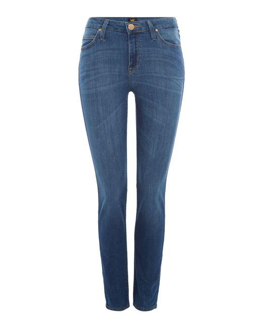 Lee Jeans - Blue Scarlett Skinny Jeans In Dark Deluxe - Lyst