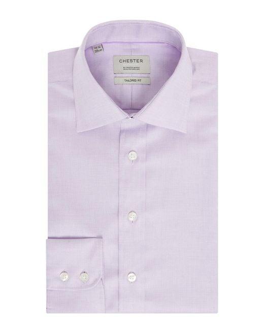 Chester Barrie - Purple Men's Zigzag Shirt for Men - Lyst
