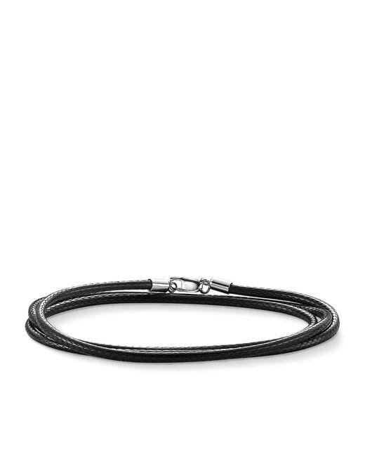 Thomas Sabo | Black Charm Club Faux Leather Cord | Lyst