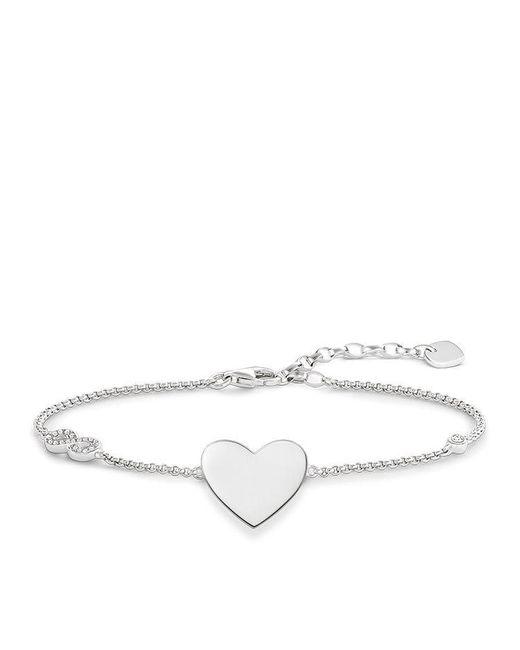 Thomas Sabo - White Glam & Soul Heart With Infinity Bracelet - Lyst
