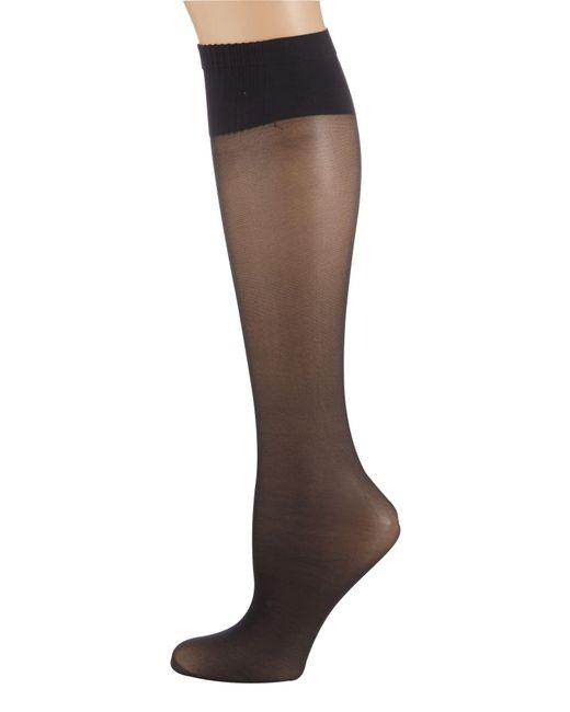 Aristoc - Black 2 Pair Pack 15 Denier Support Knee High Socks - Lyst
