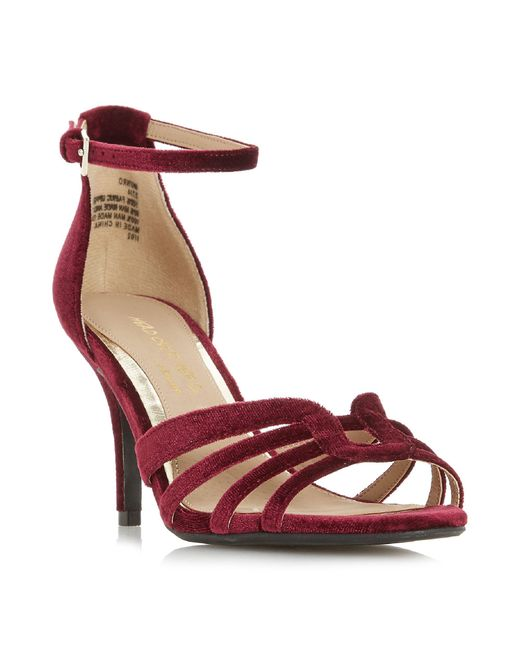 Dune - Red Munro Strappy Low 2 Part Sandals - Lyst
