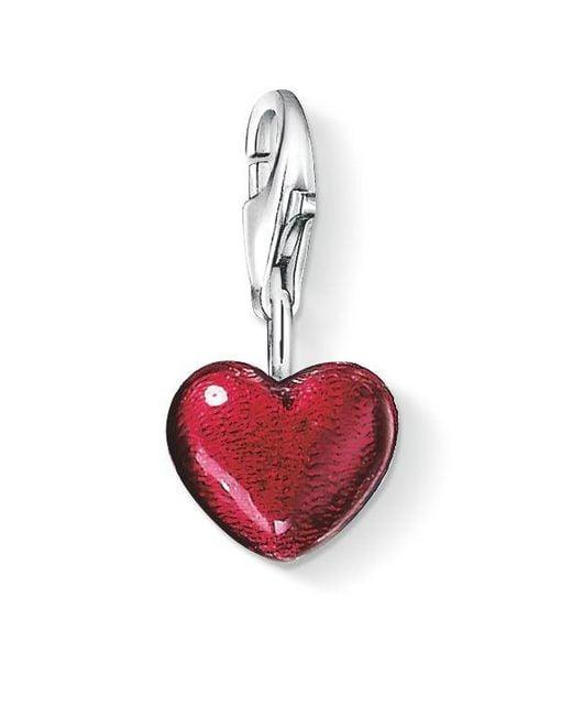 Thomas Sabo   Charm Club Red Silver Heart   Lyst