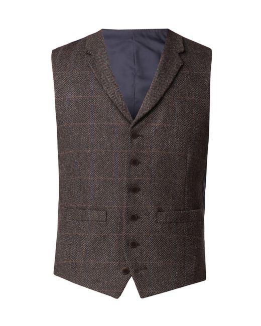 Racing Green - Men's Lane Brown Check Waistcoat for Men - Lyst